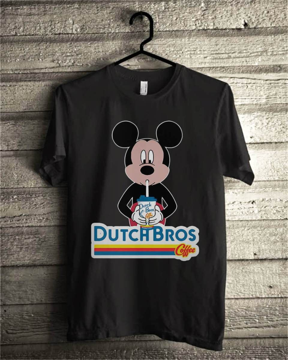 Mickey Mouse Drink Dutch Bros Coffee Shirt