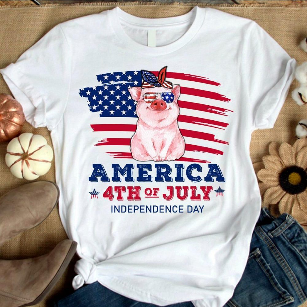 Piggy America 4th Of July Independence Day Shirt