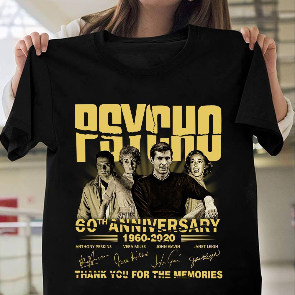 Psycho 60th Anniversary 1960 - 2020 Members Signature And Thank You For The Memories Shirt