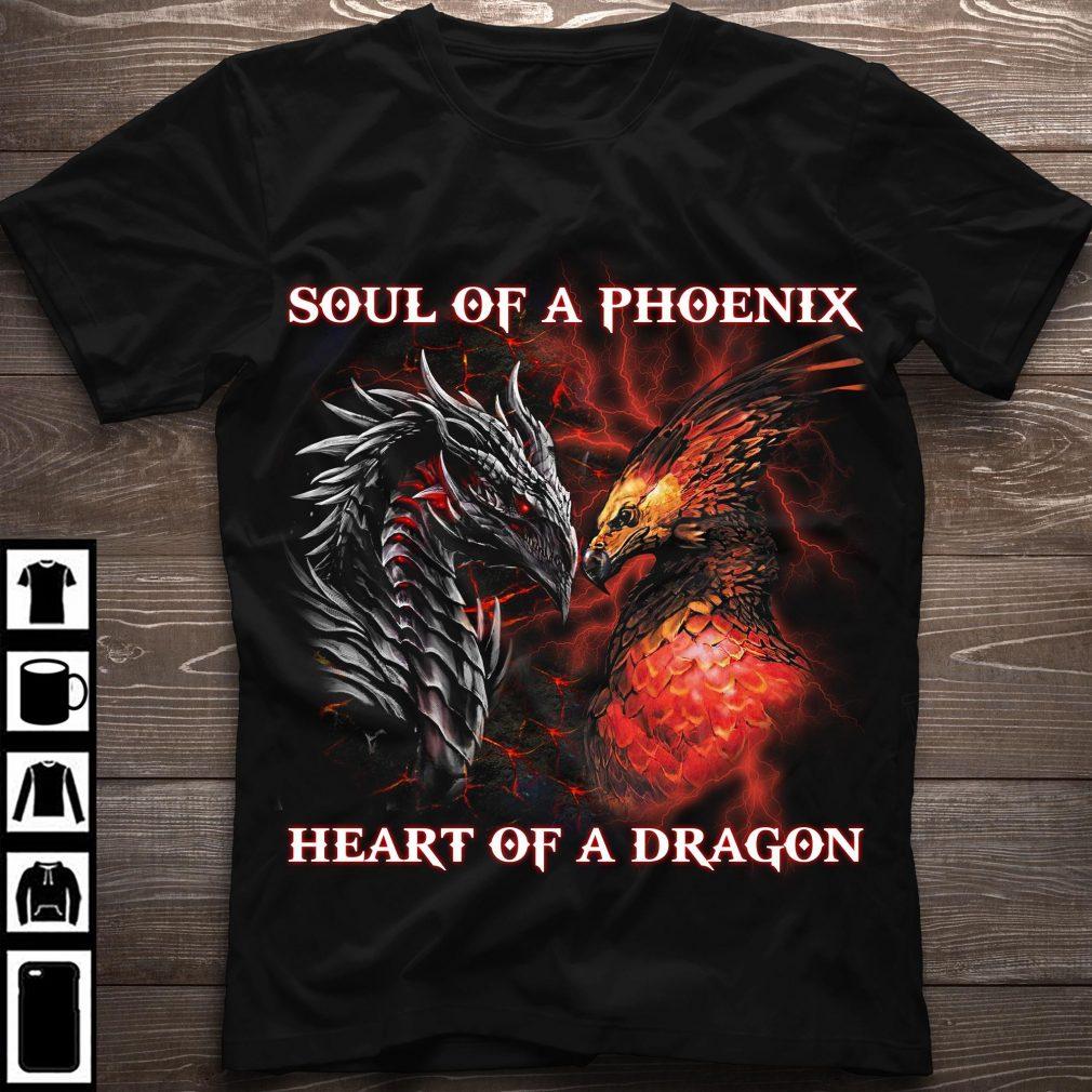 Soul Of A Phoenix Heart Of A Dragon Shirt