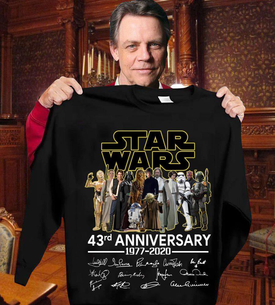 Star War 43rd Anniversary 1977 - 2020 And Signatures Shirt