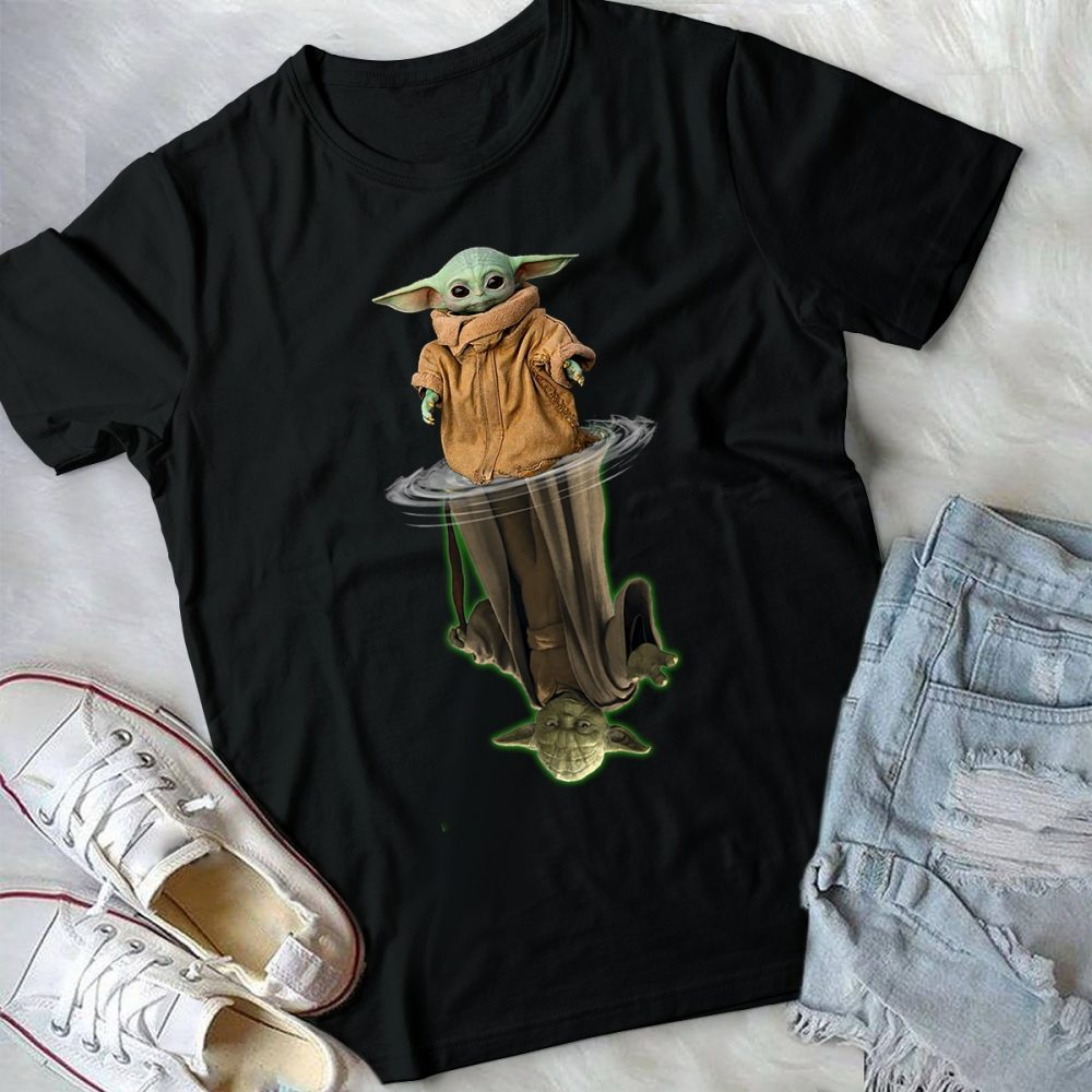 The Baby Yoda Reflects In The Water Shirt