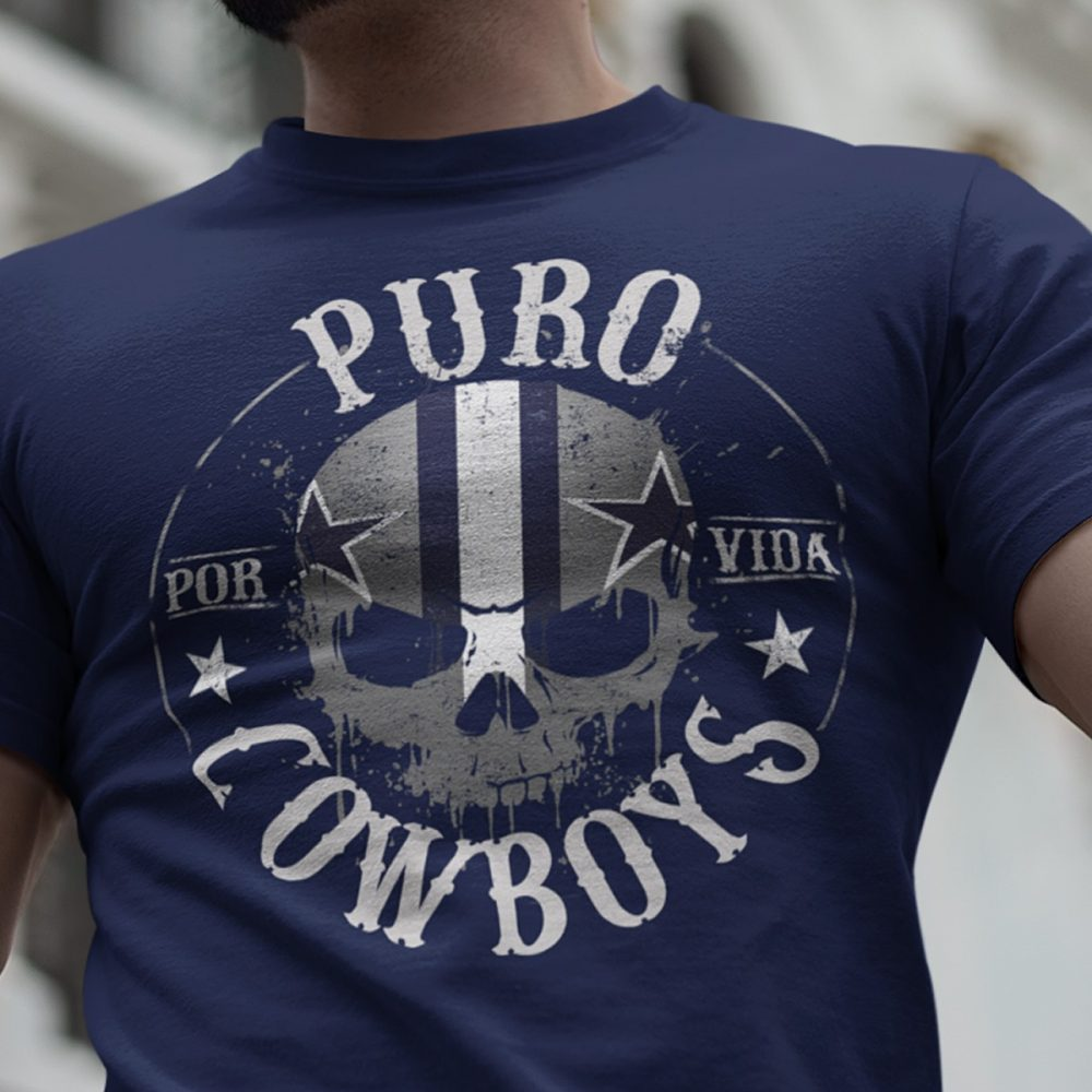 The Skull Puro Por Vida Cowboys Shirt