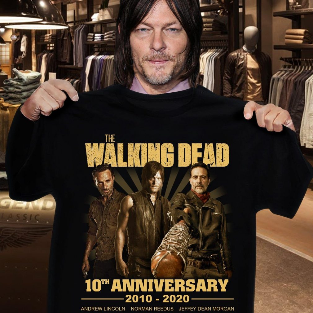 The Walking Dead 10th Anniversary 2010 - 2020 Members Signature And Thank You For The Memories Shirt