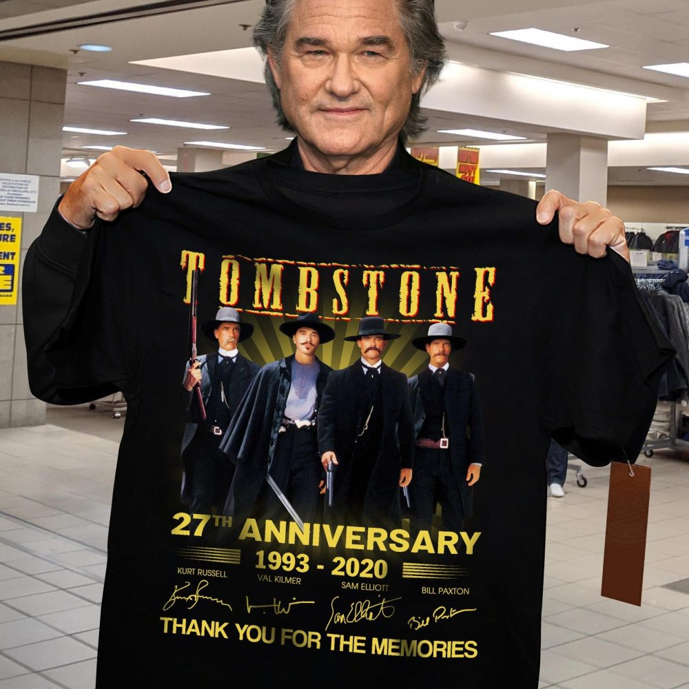 Tombstone 27th Anniversary 1993 - 2020 Members Signature And Thank You For The Memories Shirt